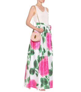 Tory Burch Summer Spring Maxi Skirt White green pink floral