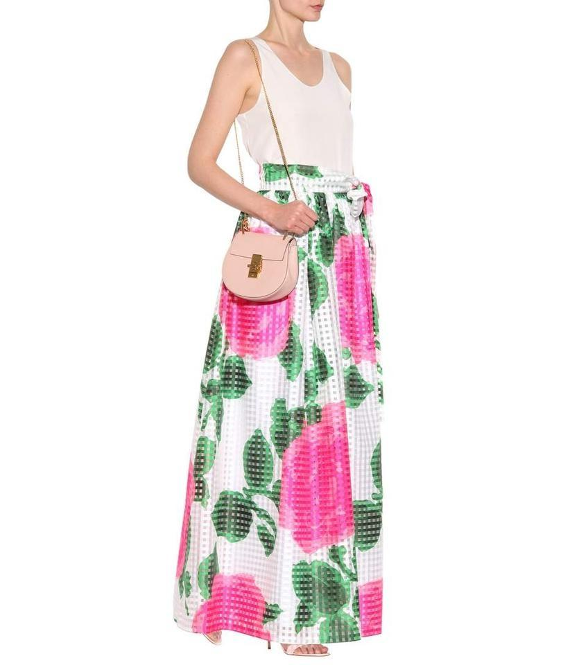 fine quality new selection lower price with Tory Burch White Green Pink Floral New Summer Hostess Garden Party Long  Skirt Size 8 (M, 29, 30) 60% off retail