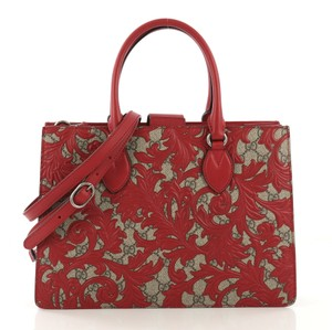 Gucci Canvas Tote in red