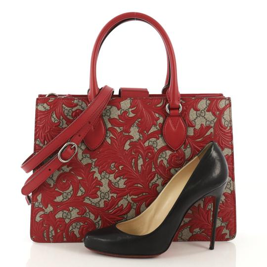 Gucci Canvas Tote in red Image 1