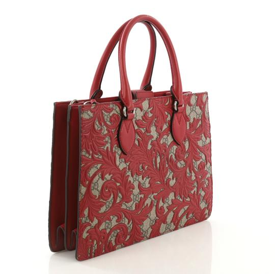 Gucci Canvas Tote in red Image 2