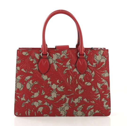 Gucci Canvas Tote in red Image 3