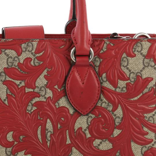 Gucci Canvas Tote in red Image 5