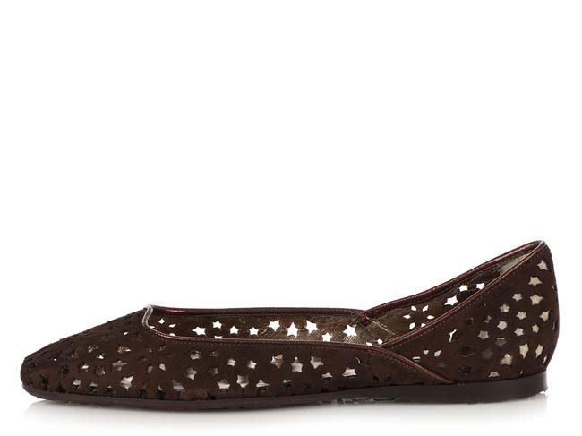 Item - Brown Chocolate Suede London Star Cut Out Ballet Flats Size EU 39.5 (Approx. US 9.5) Regular (M, B)