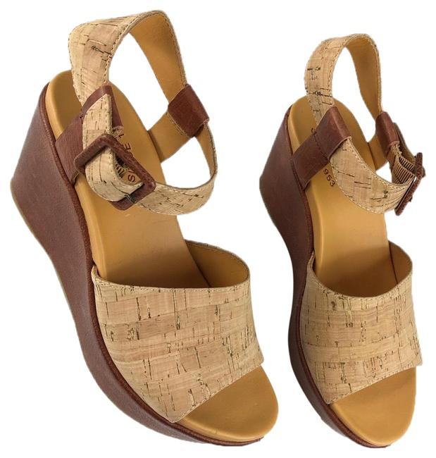 Item - Brown Wedge Sandals Size US 7 Regular (M, B)