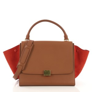 Céline Tote in brown leather and orange suede