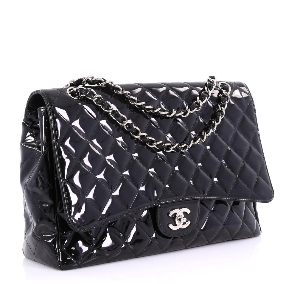 0cf06675c2b6 Chanel Classic Flap Classic Single Quilted Maxi Black Patent Leather ...
