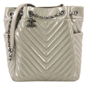 Chanel Calfskin Small Tote in silver