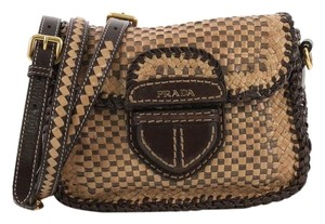 Prada Woven Leather Small Shoulder Bag
