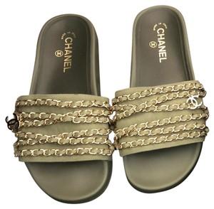 1b15bd5d885b Green Chanel Sandals - Up to 90% off at Tradesy