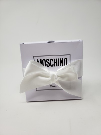 Moschino Gold-tone Moschino glittery design letter logo leather bracelet Image 3