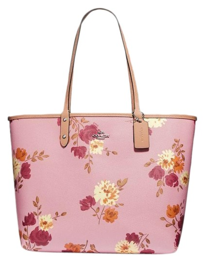 Preload https://img-static.tradesy.com/item/25300617/coach-city-reversible-in-signature-with-painted-peony-print-carnation-multilight-khakisilver-coated-0-4-540-540.jpg