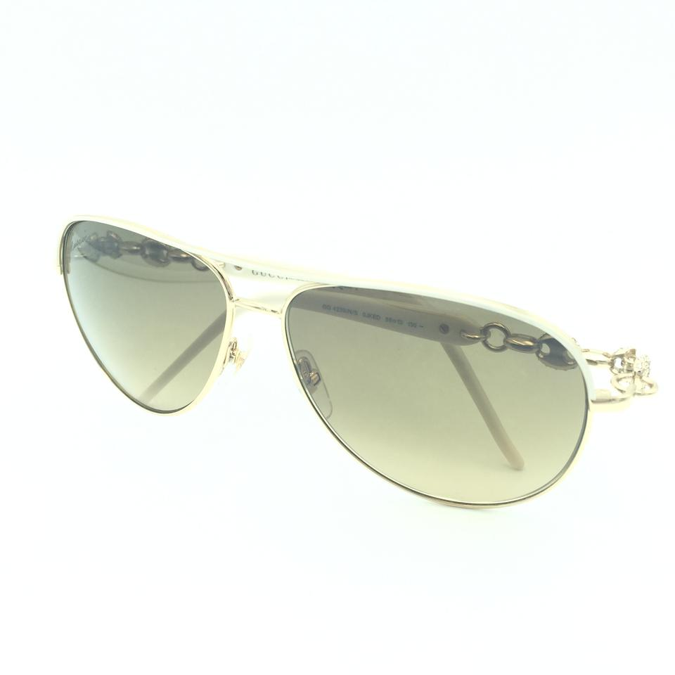 d9e3464d981 Gucci Gucci Aviator Brown Gradient GG 4239 N S 0JKED Sunglasses Image 10.  1234567891011. 1 ∕ 11