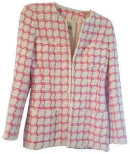 4ce311ff Chanel Beautful pink and white with some sequins placed throughout. Some  stains under arm,