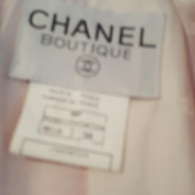 Chanel Beautful pink and white with some sequins placed throughout. Some stains under arm, but no smell or rips. Blazer Image 4