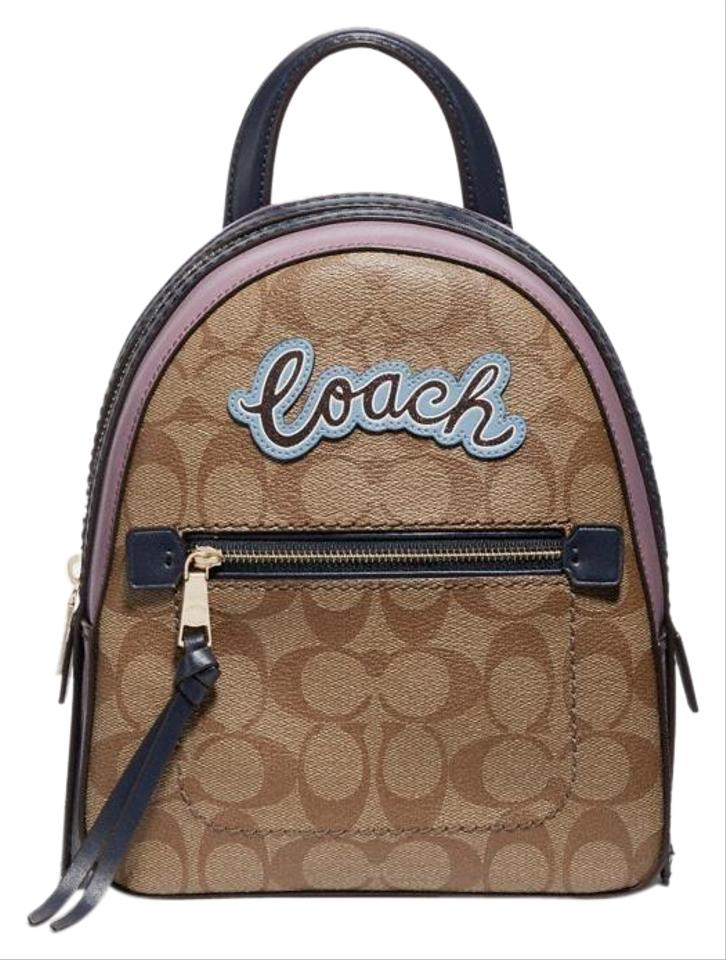 18fe87c65e2e Coach Andi In Signature with Print Khaki Multi Coated Canvas Backpack