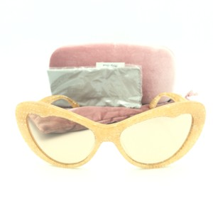 Miu Miu Miu Miu Cat Eye Translucent Tan Kaleidoscope SMU 04O Sunglasses