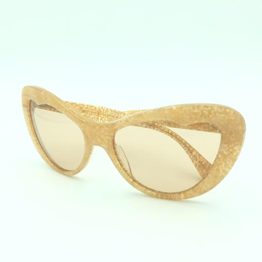 Miu Miu Miu Miu Cat Eye Translucent Tan Kaleidoscope SMU 04O Sunglasses Image 10