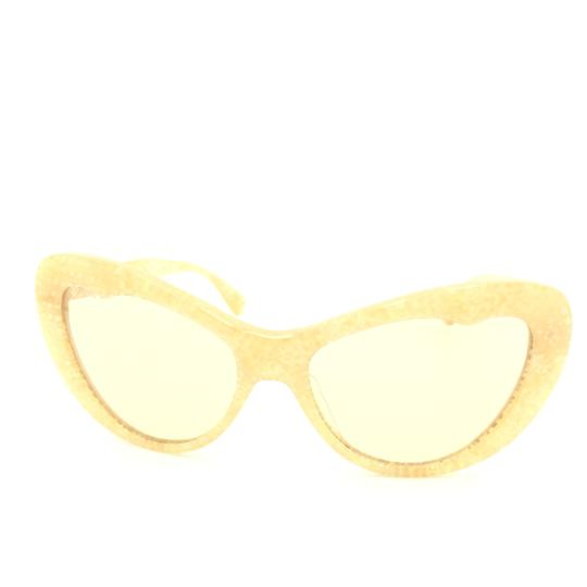 Miu Miu Miu Miu Cat Eye Translucent Tan Kaleidoscope SMU 04O Sunglasses Image 3