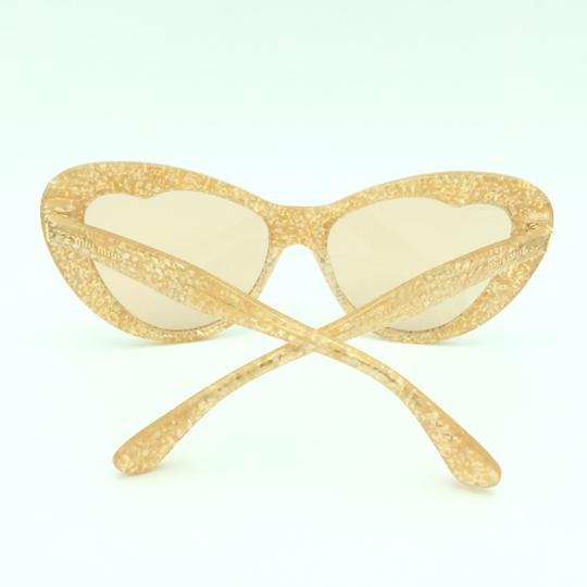 Miu Miu Miu Miu Cat Eye Translucent Tan Kaleidoscope SMU 04O Sunglasses Image 9