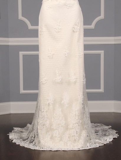 Romona Keveza Ivory Point D'alencon Lace L6100 Formal Wedding Dress Size 10 (M) Image 3
