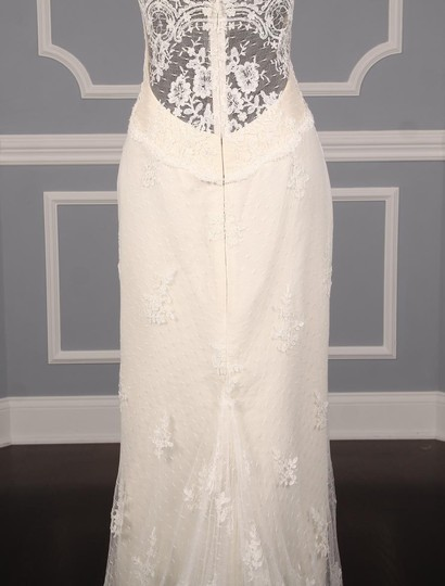 Romona Keveza Ivory Point D'alencon Lace L6100 Formal Wedding Dress Size 10 (M) Image 7