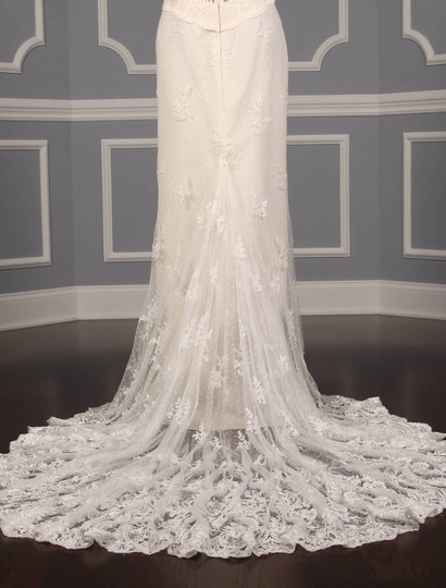 Romona Keveza Ivory Point D'alencon Lace L6100 Formal Wedding Dress Size 10 (M) Image 8
