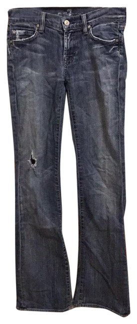 Item - Distressed Seven Boot Cut Jeans Size 0 (XS, 25)