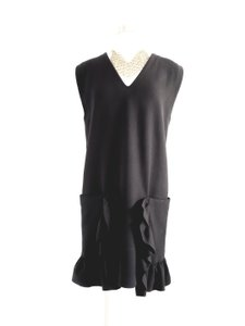 Marni short dress Black Evening Sleeveless Shift Wool on Tradesy