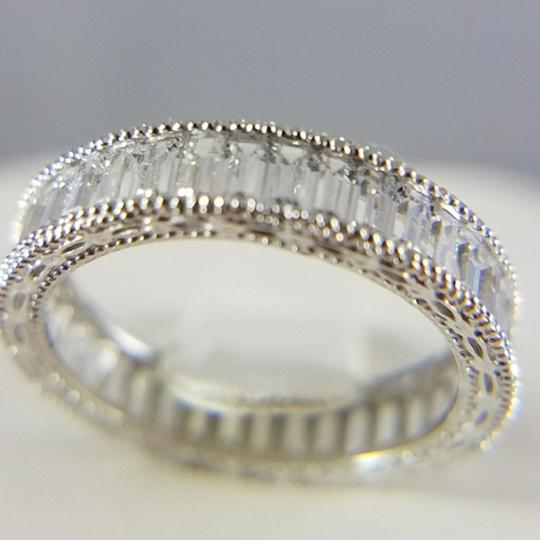 White Gold 4mm Solid 14k Channel Invisible Set Sizes 5 6 7 8 9 Engagement Ring Image 2