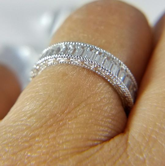 White Gold 4mm Solid 14k Channel Invisible Set Sizes 5 6 7 8 9 Engagement Ring Image 3