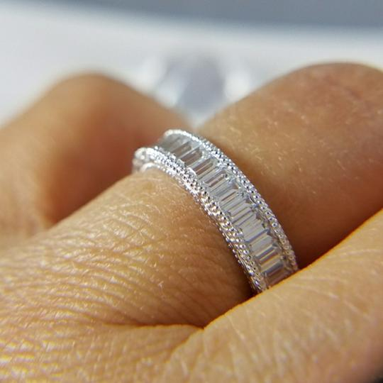 White Gold 4mm Solid 14k Channel Invisible Set Sizes 5 6 7 8 9 Engagement Ring Image 4