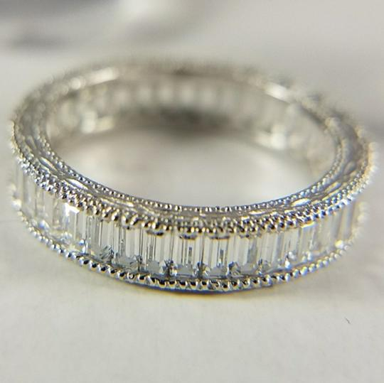White Gold 4mm Solid 14k Channel Invisible Set Sizes 5 6 7 8 9 Engagement Ring Image 7