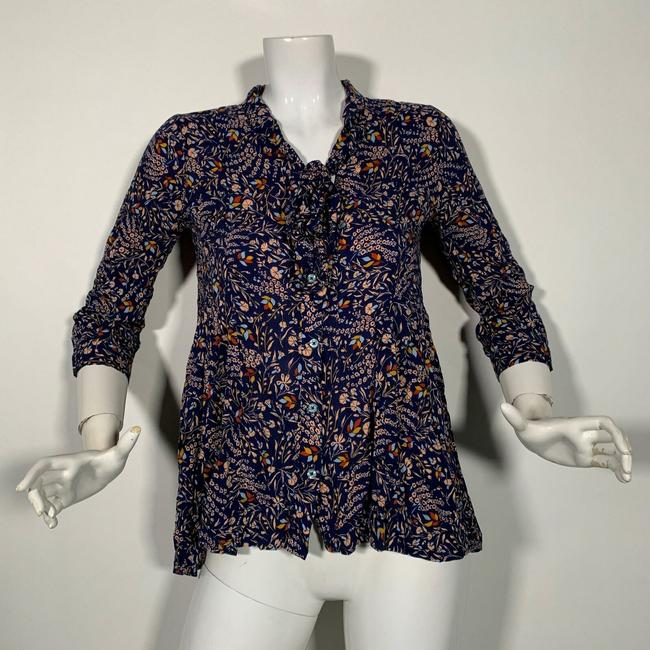 Anthropologie Rayon Top Multicolor Image 1