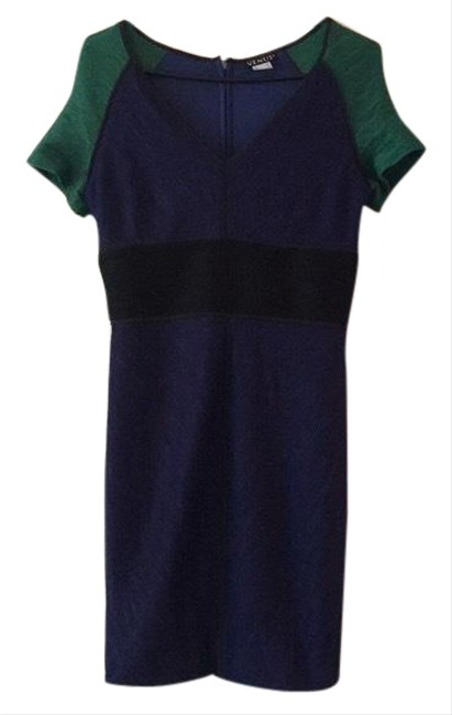 Preload https://img-static.tradesy.com/item/25300928/venus-green-blue-bodycon-fitted-club-party-textured-stretch-colorblock-mid-length-night-out-dress-si-0-1-650-650.jpg