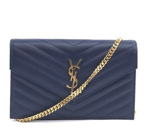 Saint Laurent Long Strap Chain Flap Ysl Cross Body Bag
