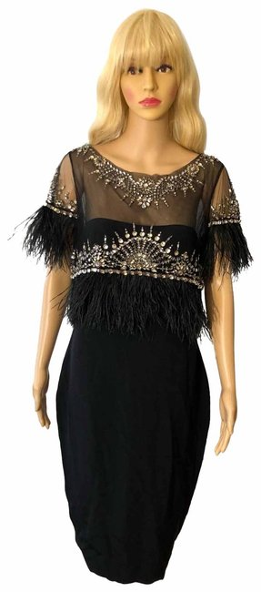 Preload https://img-static.tradesy.com/item/25300938/marchesa-black-feather-trim-mid-length-formal-dress-size-8-m-0-1-650-650.jpg
