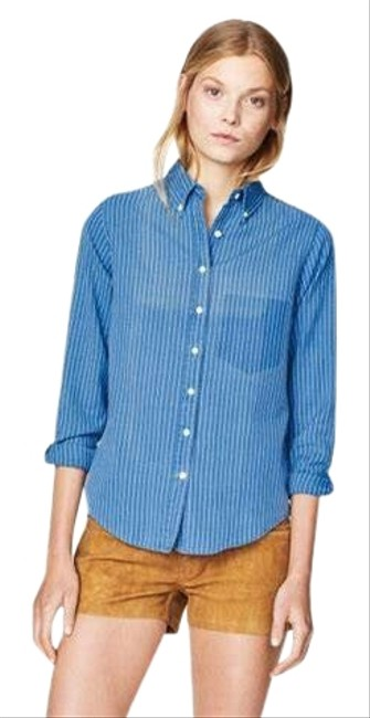 Preload https://img-static.tradesy.com/item/25300948/indigo-madras-ripped-pocket-shirt-button-down-top-size-16-xl-plus-0x-0-1-650-650.jpg