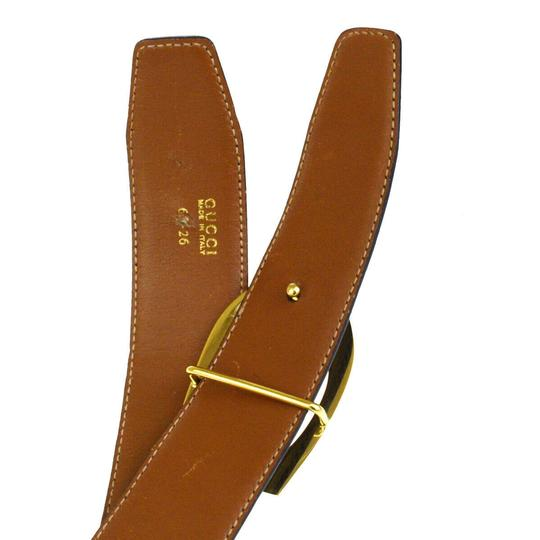Gucci GUCCI G Logo Buckle Belt Leather Black Gold-Tone Italy Image 9