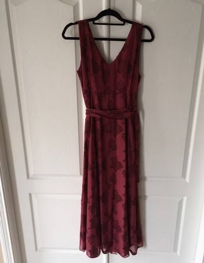 BHLDN Red Whitby Wraparound Formal Bridesmaid/Mob Dress Size 10 (M) Image 1