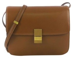Céline Leather Large Satchel in brown