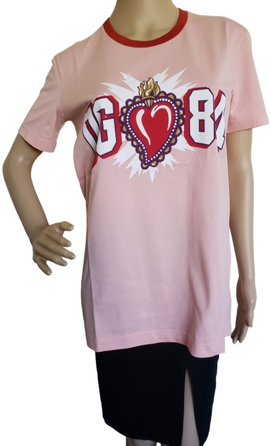 Preload https://img-static.tradesy.com/item/25301142/dolce-and-gabbana-pink-dolce-and-gabbana-dolce-and-gabbana-sacred-heart-logo-t-shirt-tee-shirt-size-0-3-650-650.jpg