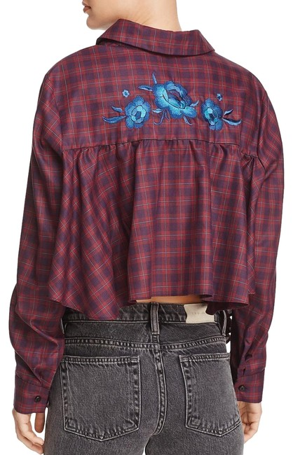 Preload https://img-static.tradesy.com/item/25301145/petersyn-wine-windowpane-womens-taylor-embroidered-hi-low-button-down-m-blouse-size-10-m-0-2-650-650.jpg