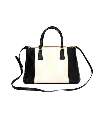 Prada Saffiano Leather Handbags Satchel in Black Image 3
