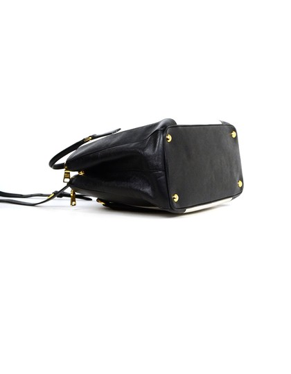 Prada Saffiano Leather Handbags Satchel in Black Image 4