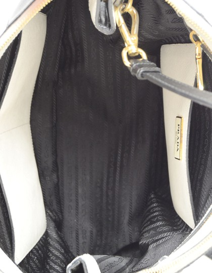 Prada Saffiano Leather Handbags Satchel in Black Image 7