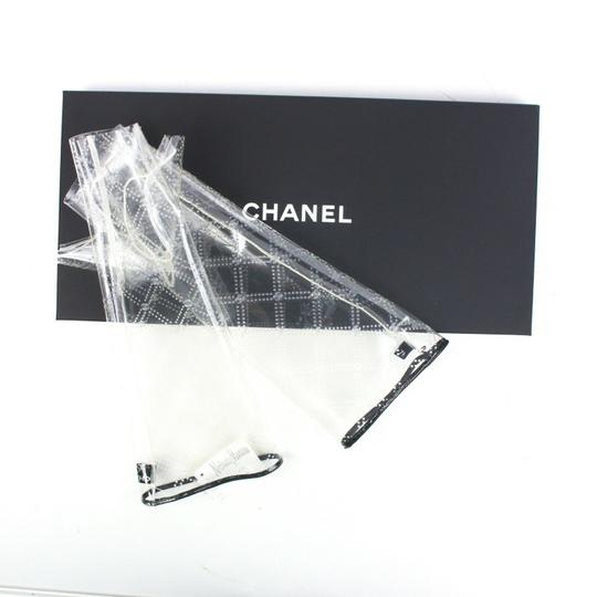 Chanel Gloves New 2018 Runway Clear Fingerless CC Logo Quilted Pattern 7.5 Image 1