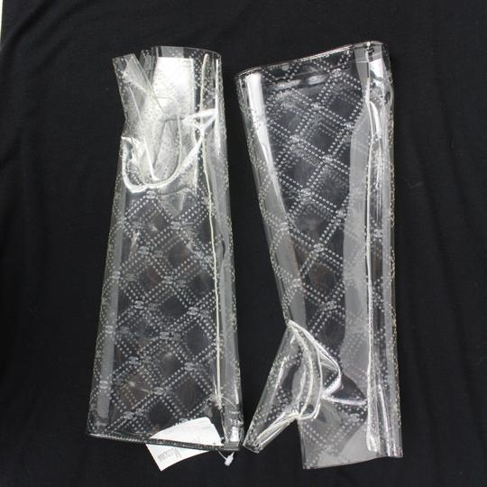Chanel Gloves New 2018 Runway Clear Fingerless CC Logo Quilted Pattern 7.5 Image 6