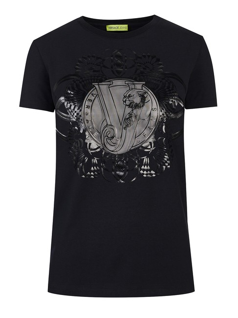 Preload https://img-static.tradesy.com/item/25301318/versace-jeans-collection-black-couture-58739-tee-shirt-size-4-s-0-0-650-650.jpg