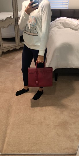 Saint Laurent Tote in red Image 5